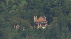 AERIAL France-Chateau - stock footage