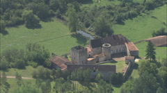 Stock Video Footage of AERIAL France-Dordogne Landscape