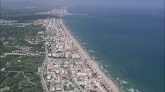 AERIAL Spain-Coastline By Grau I Platja Stock Footage