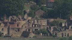 AERIAL France-Oradur-Sur-Glane Stock Footage