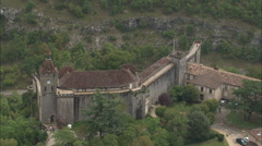 AERIAL France-Rocamadour Stock Footage