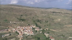 AERIAL Spain-Valdelinares Stock Footage
