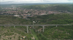 AERIAL France-Cahors Stock Footage