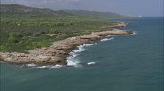AERIAL Spain-Coastline Of Parc Natural De La Serra D'Irta Stock Footage
