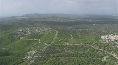 AERIAL Spain-Landscape Passing Cervera Del Maestre Stock Footage
