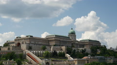 Time lapse from the Buda Castle at the Danube bank in Budapest, Hungary Stock Footage