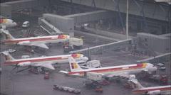 AERIAL Spain-Madrid Airport Stock Footage