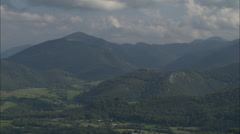 AERIAL France-North Side Of The Pyrenees - stock footage
