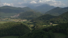 AERIAL France-Approaching The High Pyrenees Over Galie - stock footage