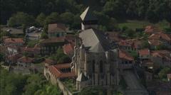 AERIAL France-Saint-Bertrand-De-Comminges Stock Footage
