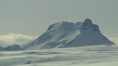 Reykjavik mountains covered with snow Stock Footage