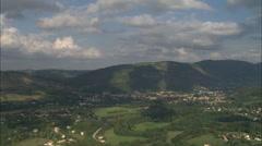 AERIAL France-Chateau De Foix Stock Footage