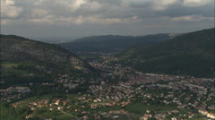 AERIAL France-Foix Stock Footage