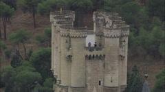 AERIAL Spain-Alcazar Of Segovia Stock Footage