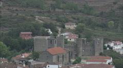 AERIAL Spain-Montemayor Del Rio And Castle Stock Footage