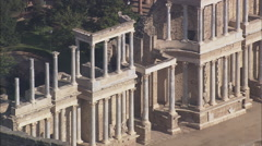 AERIAL Spain-Roman Theatre Stock Footage