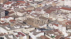 AERIAL Spain-Temple Of Diana Stock Footage