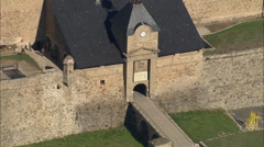 AERIAL France-Citadel Of Mont-Louis - stock footage