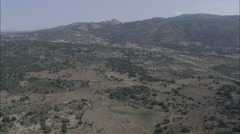 AERIAL Spain-Montanchez And Castle - stock footage