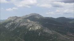 AERIAL Spain-Crossing Mountain Ridges Stock Footage