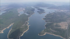 AERIAL Spain-Cijara Reservoir - stock footage