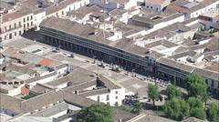 AERIAL Spain-Plaza Mayor De Almagro Stock Footage