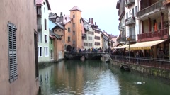 Annecy, France in the French Alps Stock Footage
