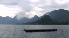 Cloudy Day at Annecy, Lake, France Stock Footage