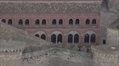 AERIAL Spain-Belmonte Castle Stock Footage