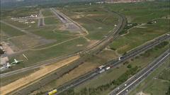 AERIAL France-Landing At Perpignan Rivesaltes Stock Footage