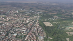 AERIAL Spain-Approaching The Royal Palace Of Aranjuez Stock Footage