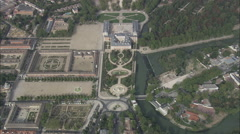 AERIAL Spain-Royal Palace Of Aranjuez Stock Footage