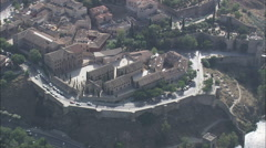 AERIAL Spain-Toledo Stock Footage