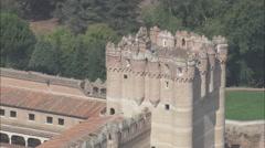 AERIAL Spain-Coca Castle Stock Footage