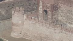 AERIAL Spain-Castle Of La Mota Stock Footage