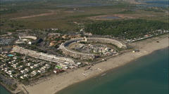 AERIAL France-Agde Stock Footage