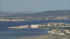 AERIAL France-Sete Stock Footage