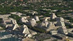 AERIAL France-La Grande-Motte Stock Footage