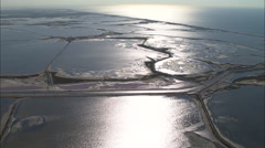 AERIAL France-Salt Pans Stock Footage