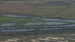 AERIAL France-The Camargue Natural Reserve Stock Footage