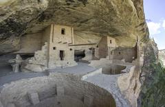 Stock Photo of Balcony House cliff dwelling Mesa Verde National Park Colorado United States