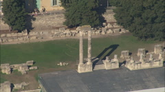 AERIAL France-Arle Roman Theatre Stock Footage