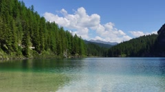 Panoramic view of Alpine lake in Italy Stock Footage