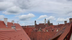 Rothenburg ob der Tauber, common view with high level point Stock Footage
