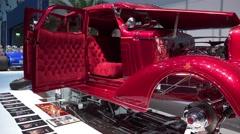4k Chevrolet Master DeLuxe 4-Door-Sedan Hot Rod motorshow Stock Footage