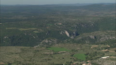 AERIAL France-Canyon De La Dourble Stock Footage
