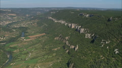 AERIAL France-Gorges De Tarn And Aguessac Stock Footage
