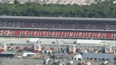AERIAL Spain-Catalunya Motor Racing Circuit Stock Footage