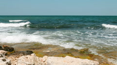 View of seascape Stock Footage