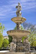 Danubius Fountain Deak Ferenc ter Budapest Hungary Europe Stock Photos